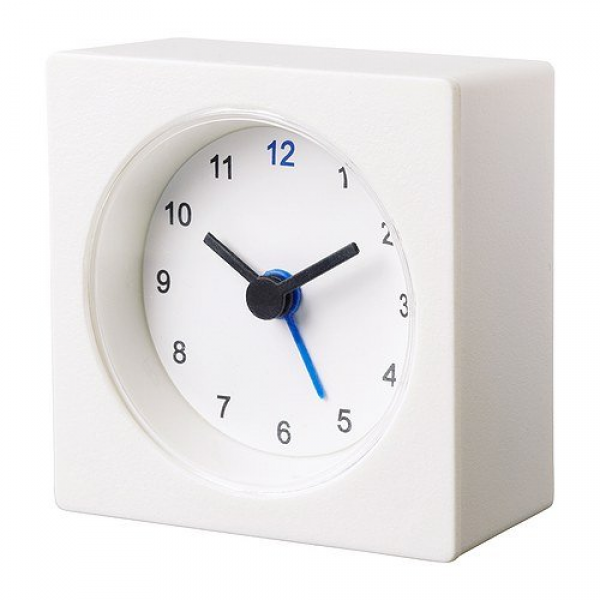 Ikea white travel alarm clock battery operated new Review