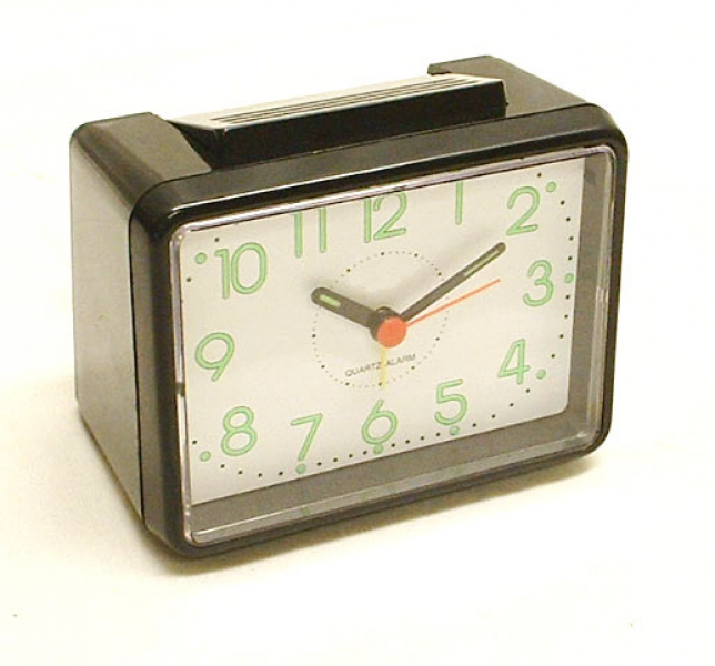 ... Analogue Loud Travel Alarm Clock - Quartz Movement & Battery Operated