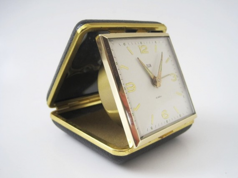 vintage elgin travel alarm clock | All About TIME | Pinterest