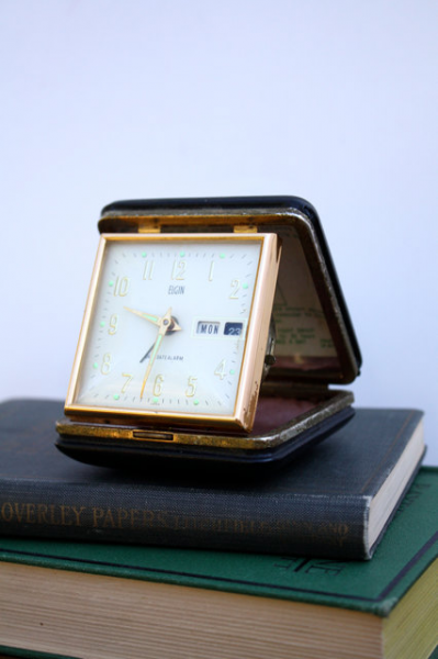 Vintage ELGIN Travel Alarm Clock by aniandrose on Etsy