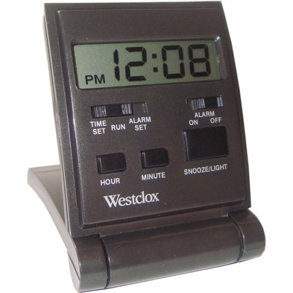 Westclox Tech Lcd Folding Case Travel Alarm Clock: Decor : Walmart.com