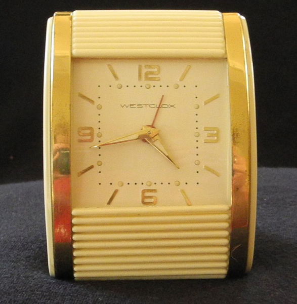 Westclox Roll Top Travel Alarm Clock, c. 1950 from thingspast on Ruby ...