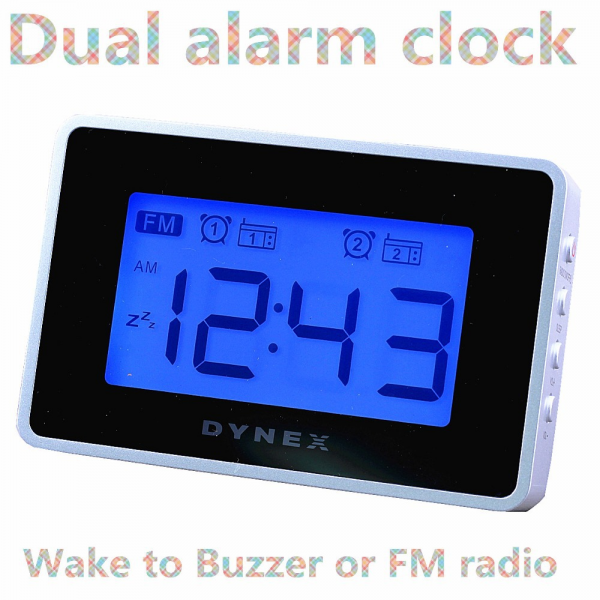 dual alarm digital travel clock travel alarm clocks www top clocks com. Black Bedroom Furniture Sets. Home Design Ideas