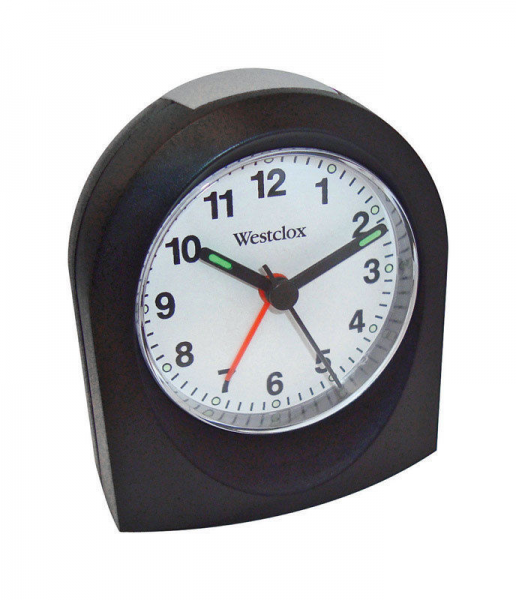 Westclox Analog TRAVEL Alarm Clock 47312 BATTERY POWERED Black NEW ...