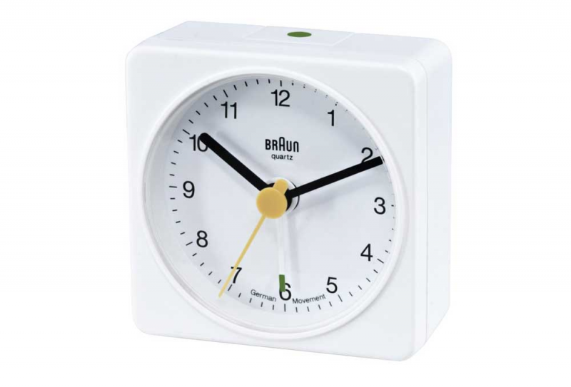 Braun AB1A Battery Operated White Travel Alarm Clock