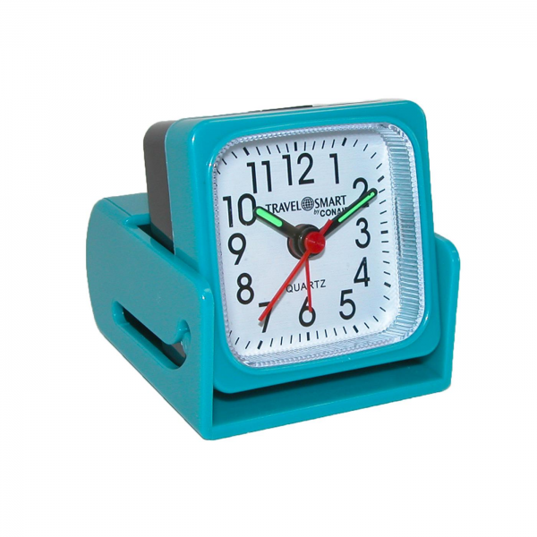 you get up on time with this compact, convertible travel alarm clock ...