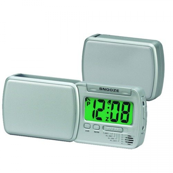 Chass ''Smart Lite'' Swing Out Travel Alarm Clock - Walmart.com