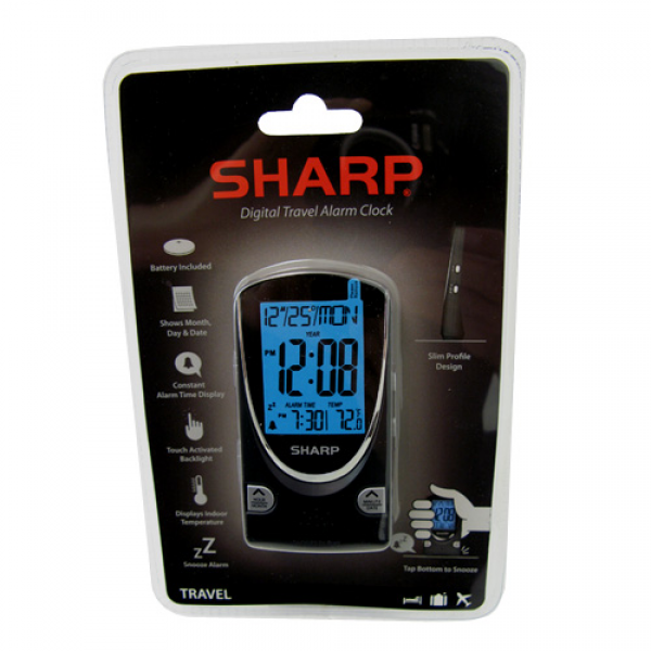 Sharp Sharp Digital Travel Alarm Clock, Clocks - Drop shipping to your ...