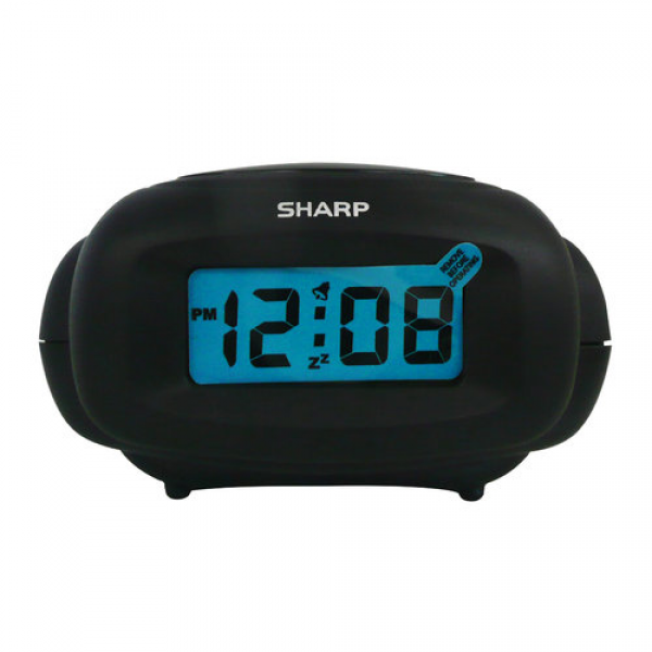 Sharp LCD Digital Alarm Clock, Black - Walmart.com