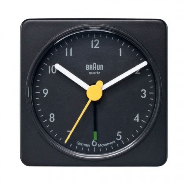 ... Braun's iconic travel alarm clock. It looks good and the alarm is as