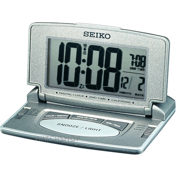 Seiko Clocks LCD Desk Alarm Clock (QHL021N) - WATCH SHOP.com™