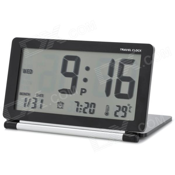 LCD Folding Digital Travel Clock with Calendar / Alarm Clock ...