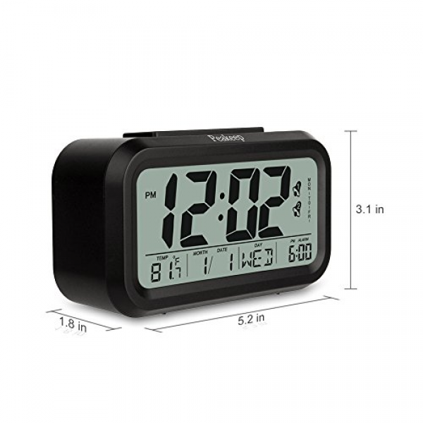 Alarm, Snooze and Large Display - Travel Alarm Clock and Home Alarm ...