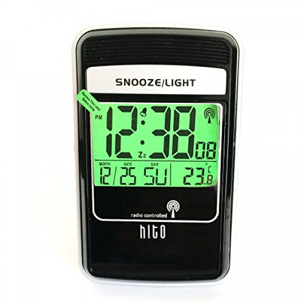 ... Controlled Multifunction LCD Travel Alarm Clock w/ Backlight Smartl
