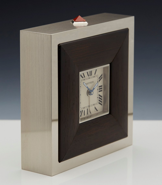 Cartier SS Travel Desk Clock with Alarm - Watches Catalogue - Xupes