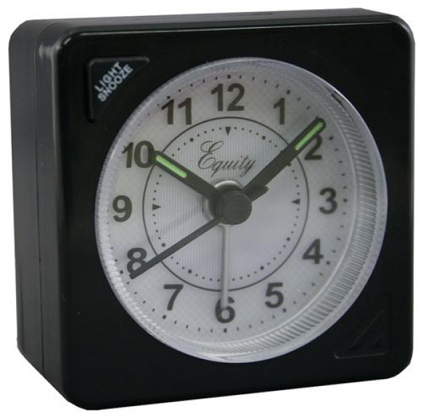 Equity Time USA 20078 Battery Operated Quartz Travel Alarm Clock