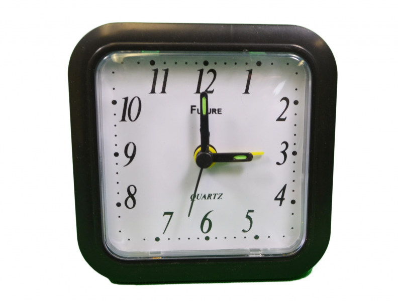 Details about Quartz Travel Analog Table Alarm Clock Battery Operated