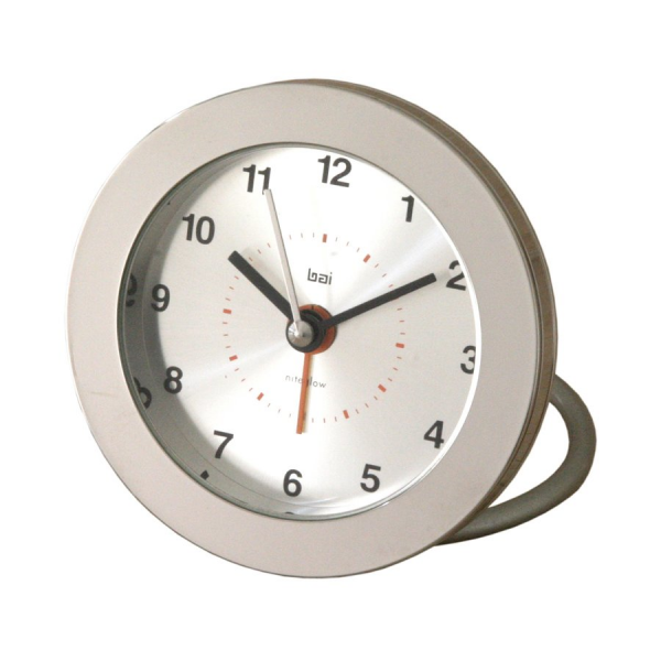 ... 513.HE Round Diecast Solid Metal Helio Travel Alarm Clock | ATG Stores