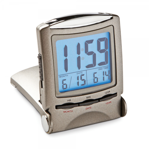 Home Gifts Clocks Dual Time Travel Alarm Clock
