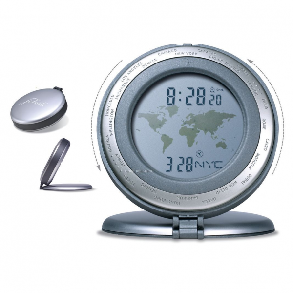 World Time Travel Alarm Clock (3-1/8X3/4),China Wholesale World Time ...