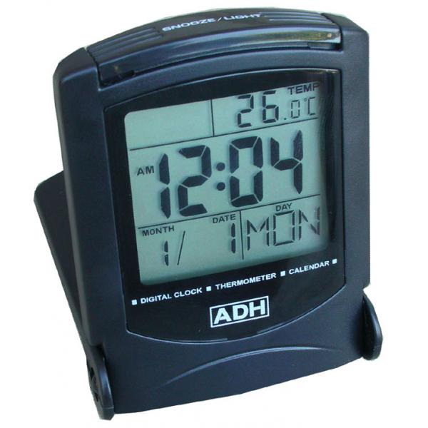 ... - Accessories - Travel Alarm Clock Calendar & Thermometer photo 1
