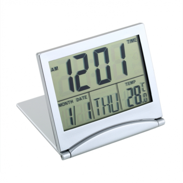 ... function LCD folding travel alarm clock temperature calendar students