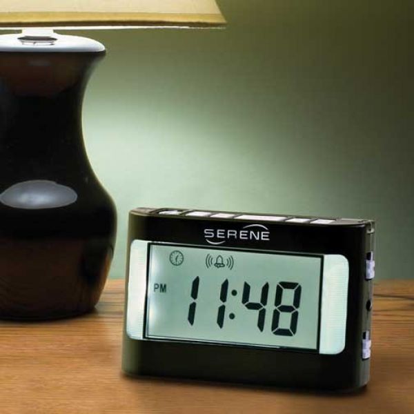 Serene Innovations® VA3 Vibrating Travel Alarm Clock