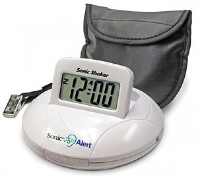 ... Shaker SBP100 Portable Vibrating Travel Alarm Clock | EnableMart.com