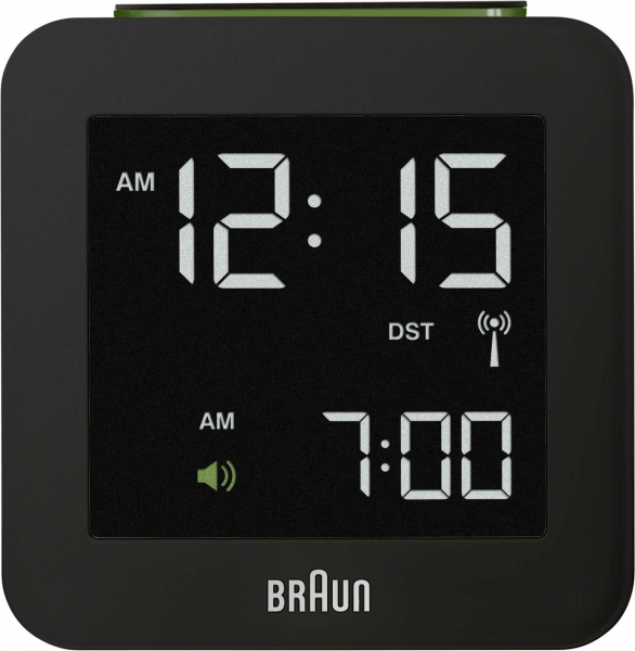 Braun digital travel alarm clock square | hardtofind.