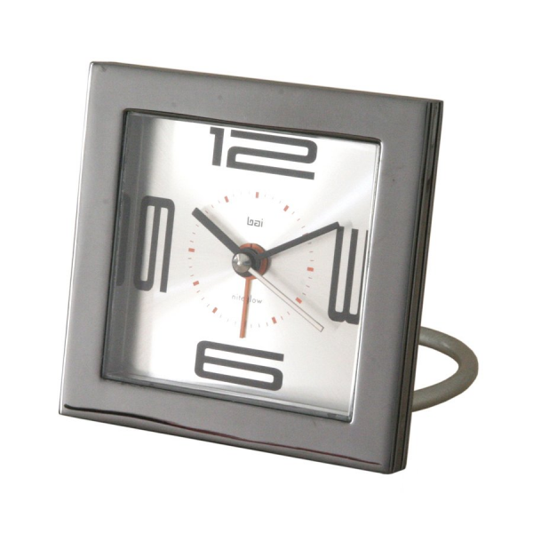 ... VE Square Diecast Solid Metal Velocity Travel Alarm Clock | ATG Stores