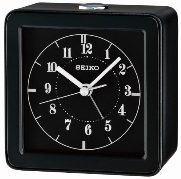 ... QHE082JLH Bedside/Travel Alarm Clock with Non-Ticking Second Hand
