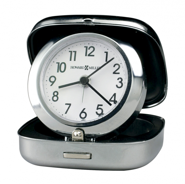 Howard Miller Clam Shell Travel Alarm Clock 645601