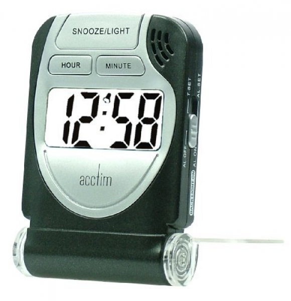 ... 13253 Smartlite Travel LCD Alarm, Black by Acctim at the Alarm Clock