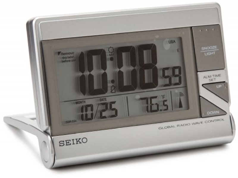 Features of Seiko QHR024SLH Classic Digital Travel Clock