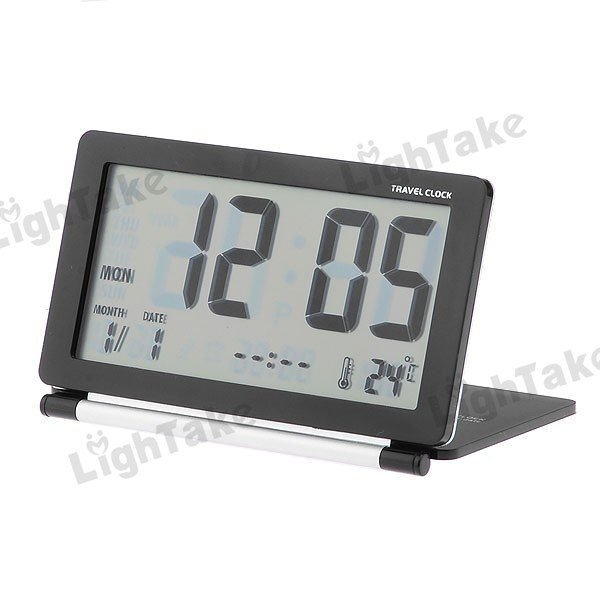 Travel Digital Alarm Clock With World Time Table Black-in Alarm Clocks ...