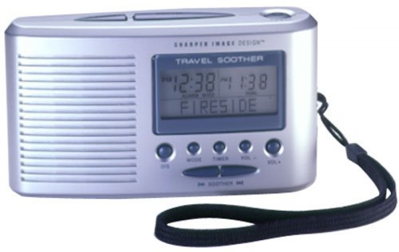 Sharper Image Travel Sound Soother 20 with LCD Alarm Clock (SI601TNM ...