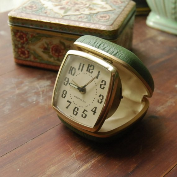 Vintage Westclox Travel Alarm Clock Still Works by CalloohCallay
