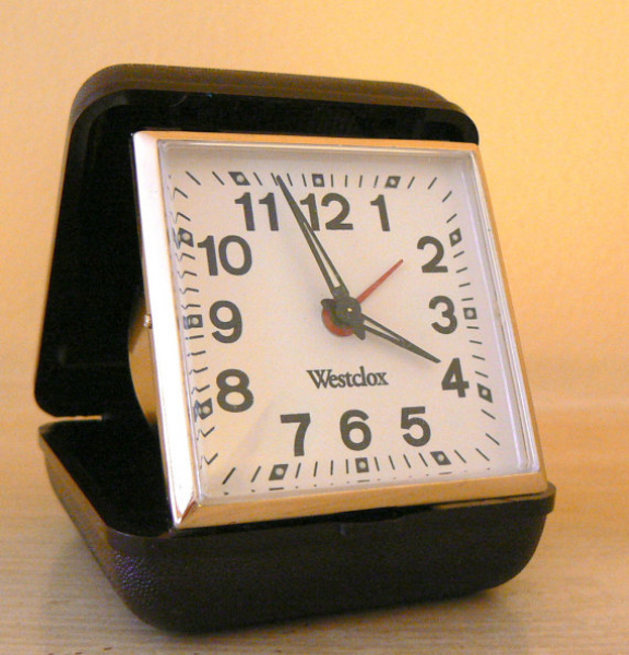 Vintage Westclox Folding Travel Alarm Clock