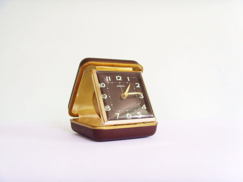 Vintage Seiko travel alarm clock by KeepitRetro on Etsy