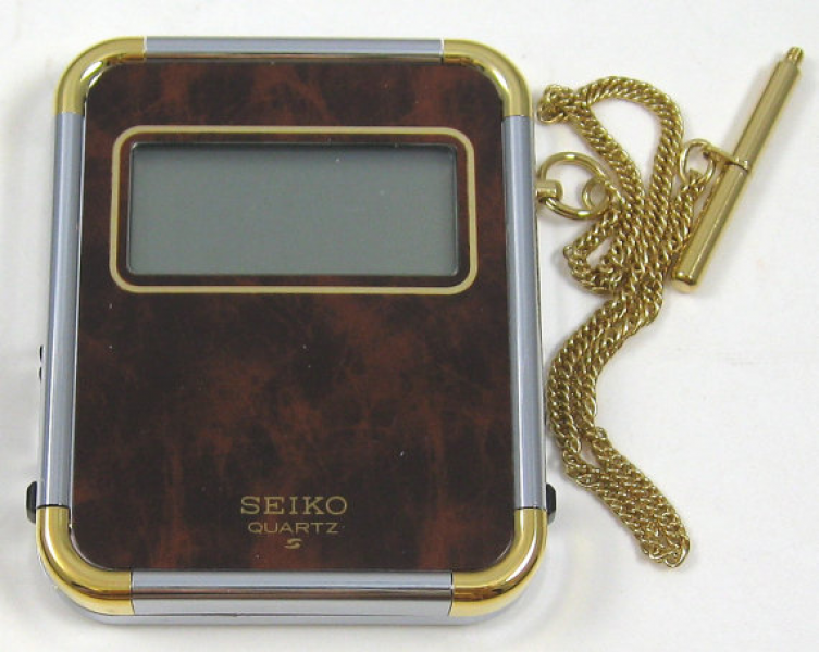 NO Vintage SEIKO Quartz Digital Pocket Travel Alarm Clock on Chain