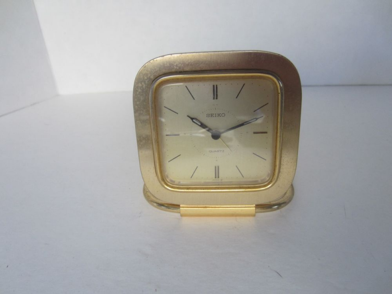 Seiko Vintage Battery Powered Travel Alarm Clock Japan Quartz Ikma ...