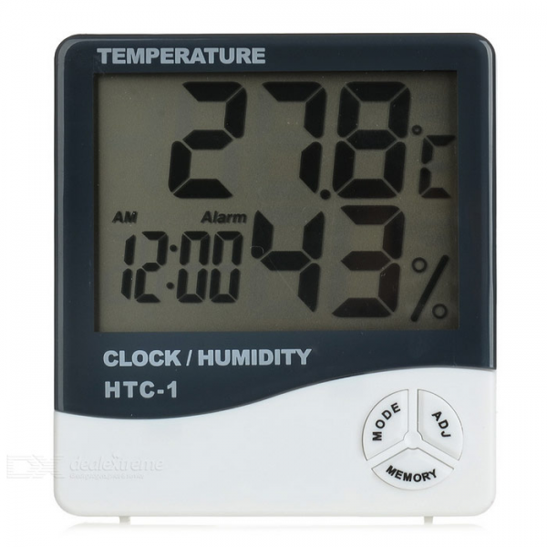 Household Digital Thermohygrometer w/ 3.7 Screen / Alarm Clock ...