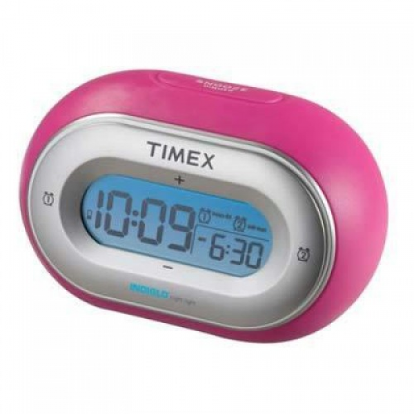 Home » Timex T116P Jelly Dual Alarm Clock - New - Pink