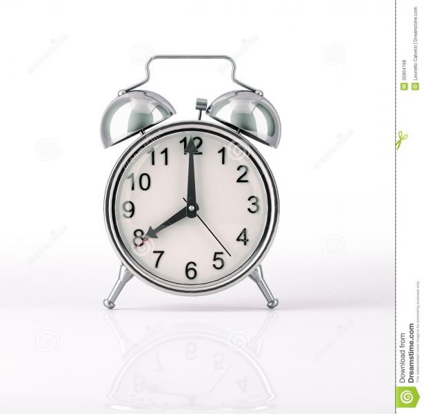Classic Alarm Clock Chromed, Front View At Royalty Free Stock Photos ...