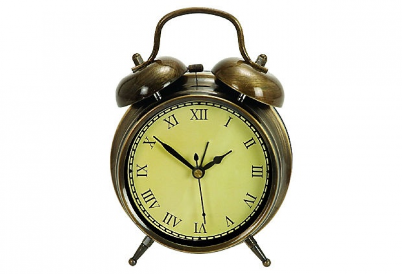 HOME DECOR – CLOCKS – Classic Alarm Clock, Bronze on OneKingsLane ...