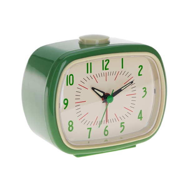 retro green alarm clock get the retro look with this green alarm clock ...