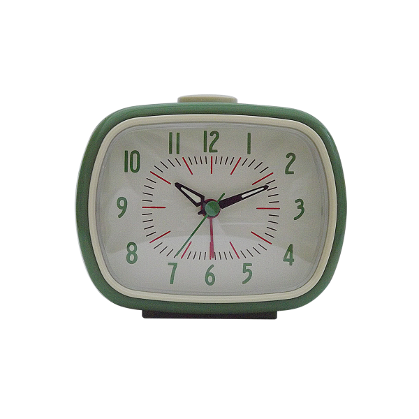 Retro Style Alarm Clock - Olive Green - Your Chic Boutique