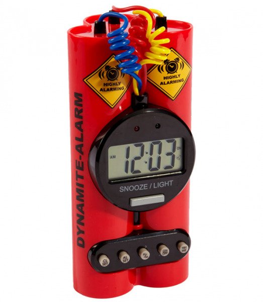 ... by waking up to a Dynamite Alarm Clock ? It's $20 at Fred Flare