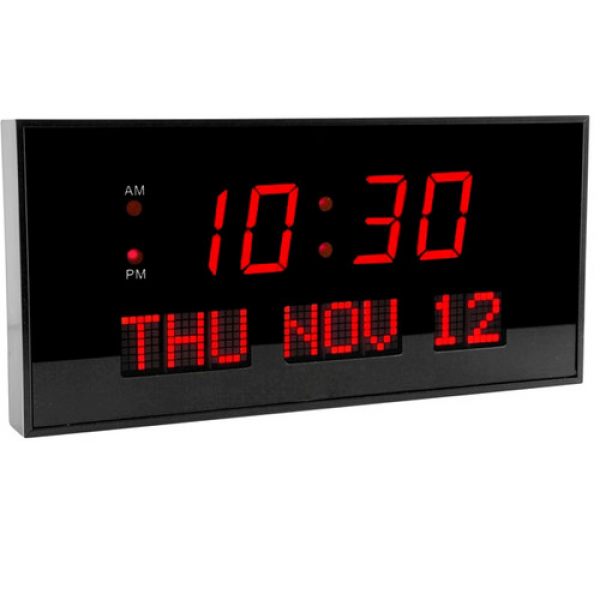 Big Time Clocks Super Large Calendar LED Clock & Reviews | Wayfair