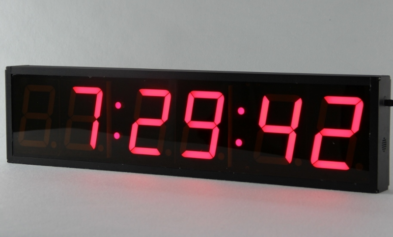 Large led timer clock cool alarm clocks www top clocks com - Giant stopwatch wall clock ...